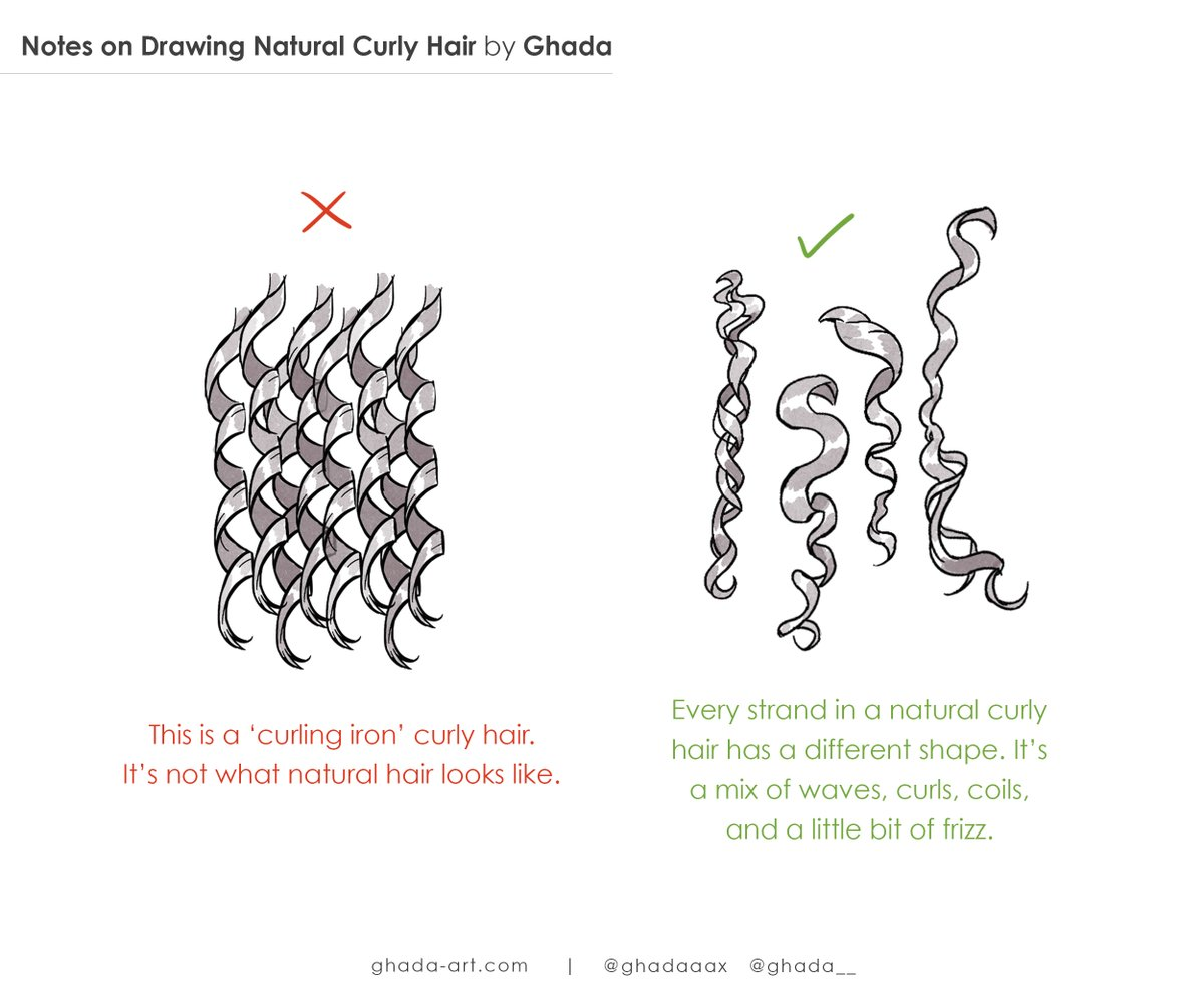 Some notes on drawing curly hair, I hope this will be somewhat helpful 🙏🏽❤️