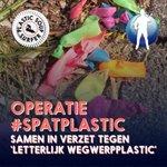 Image for the Tweet beginning: OPERATIE #SPATPLASTIC IS GO!  Deze week