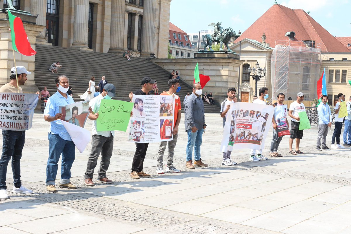 #BNM Baloch National Movement protest in Berlin, Germany against non-recovery and eleven years of enforced disappearance of Dr. Deen Mohammad Baloch by Pakistani forces. #SaveDrDeenMohdBaloch  #SaveBalochMissingPersonspic.twitter.com/wKcF1iEJSV