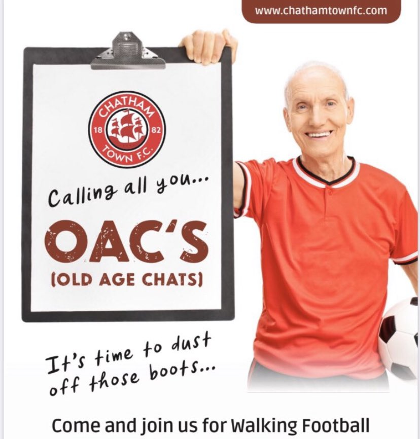 Calling Grandparents, Parents, Aunts, Uncles & Carers;  ⚽️ Walking football ⚽️  📅 Wednesday 11am or Saturdays 12pm @ CTFC 🏟 🔞 40 years + male or female. All welcome, retired, furloughed, ex-player, supporter or want to escape the house for socially distanced exercise 🔴⚫️ ⚪️ https://t.co/r4vjXSKOPg