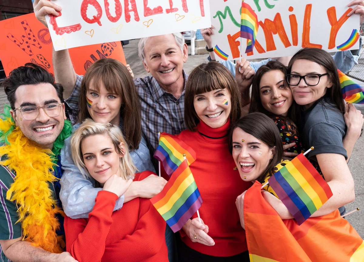 Happiest #Pride from @HappiestSeason. 🏳️🌈 In cinemas soon. Photo by: Lacey Terrell https://t.co/deNkcu0a4z