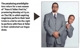 In my local paper promoting the new season of Fool Us they decided to use a picture of Fat Penn. @pennjillette @MrTeller @alydenisof @CWPennandTeller https://t.co/iUb4tuetXa