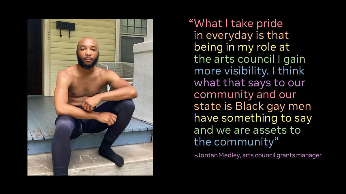 This year for Pride, we're celebrating by showcasing Black LGBTQ+ activists and community leaders.  Meet @JordanMedley  He's a dancer and member of the Arts Council of Winston-Salem and Forysth County where he advocates for equitable access to grant funding and arts programming. https://t.co/wNjXdnA7JM