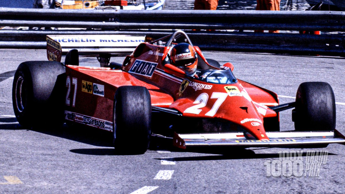 Monaco, May 1981 🇲🇨 The first victory for a turbo engine in Monaco, the first for a Ferrari turbo engine, the first win in over a year 🏆 In short, the end of a bad spell and one which put Gilles and Ferrari back in contention 👊 #essereFerrari 🔴 #100x1000GP #RoadTo1000