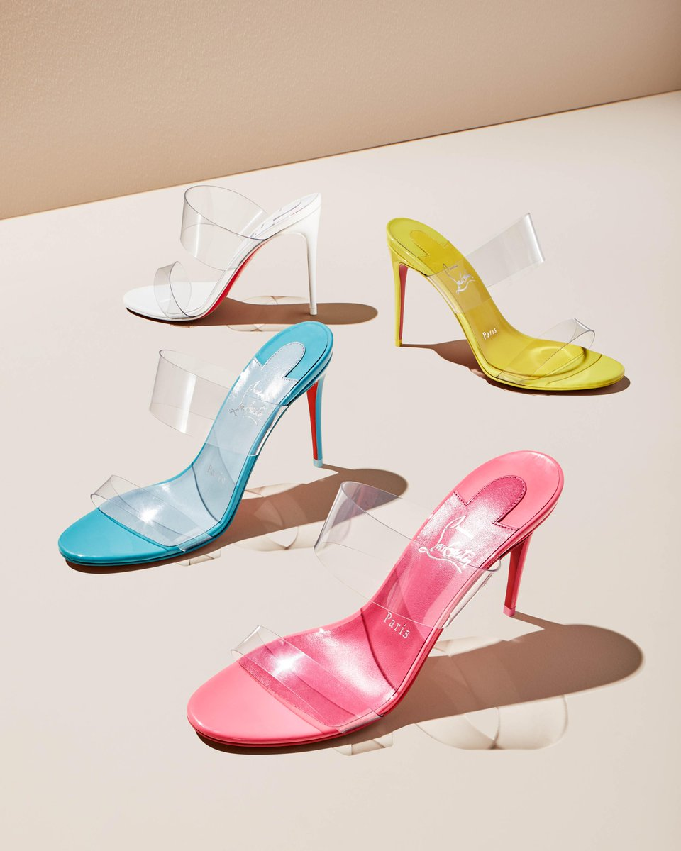 Ready to try some barely there sandals? With clear straps & a splash of bright color, the latest iterations of @LouboutinWorld's Just Nothing sandals are the fun summer pair we've been waiting for. https://bit.ly/2Vq47Jm #NeimanMarcus #ChristianLouboutin pic.twitter.com/SU1daJTVbZ