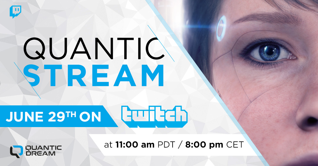 Remember, @NgiraanFall will meet you TOMORROW on #Twitch at 11a PDT (8p Paris time) for a new #QuanticStream.   We'll talk about what's new at QD and Kara, with our devs and some special guests!  See you there! Follow us NOW on Twitch: https://t.co/0euyqwGrRd https://t.co/VIlVGqnosL