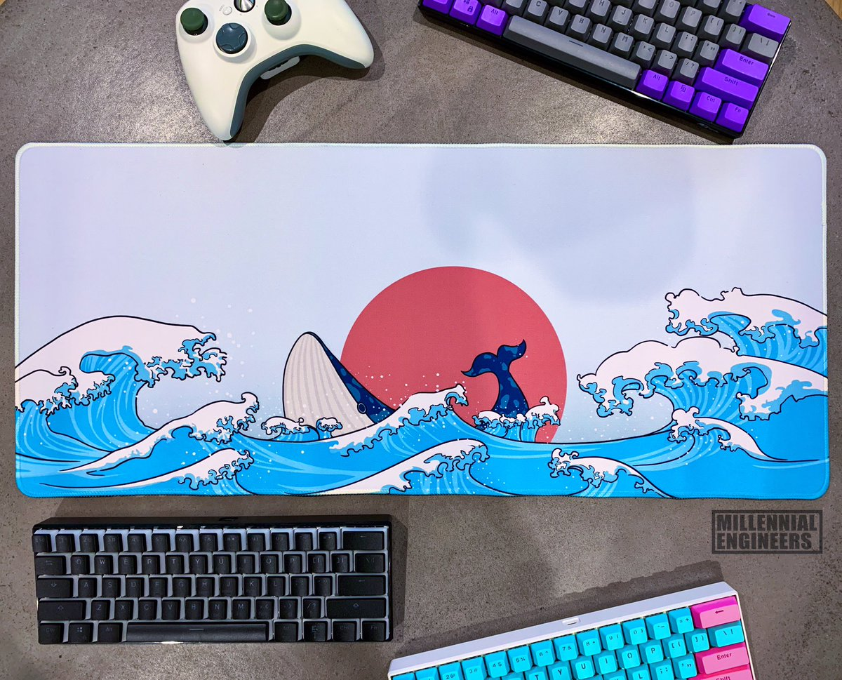 Whale whale whale, what have we got here#millennialengineerscom #mechanicalkeyboard #mousemat #gamingkeyboard #nippon #desksetup #coder #gamerlife #ukiyoe #esports #battlestation #mousepad #japanesefashion #waves #whalepic.twitter.com/t7I1sLNU0A