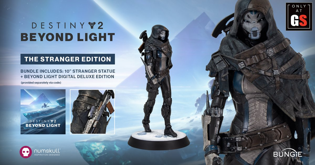 ONLY AT GAMESTOP. The Destiny 2 Beyond Light Stranger Edition is available to pre-order now. Out 22/09.   https://t.co/mw5YD02Dyg https://t.co/WCFrAFmlpn