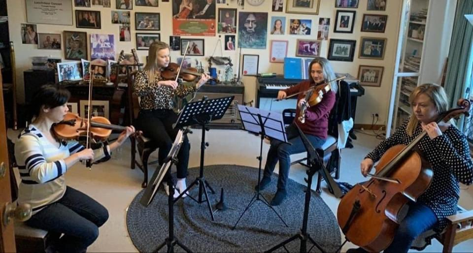 It was amazing to see each other after 3 long months apart. To be able to rehearse again was just magic! We had cake for Jacqui's birthday  afterwards and enjoyed a cup of tea together.  #AmicusStrings #sogoodtobeback #sagreat #heapsgood #adelaide #music #love pic.twitter.com/5q148NDQmy