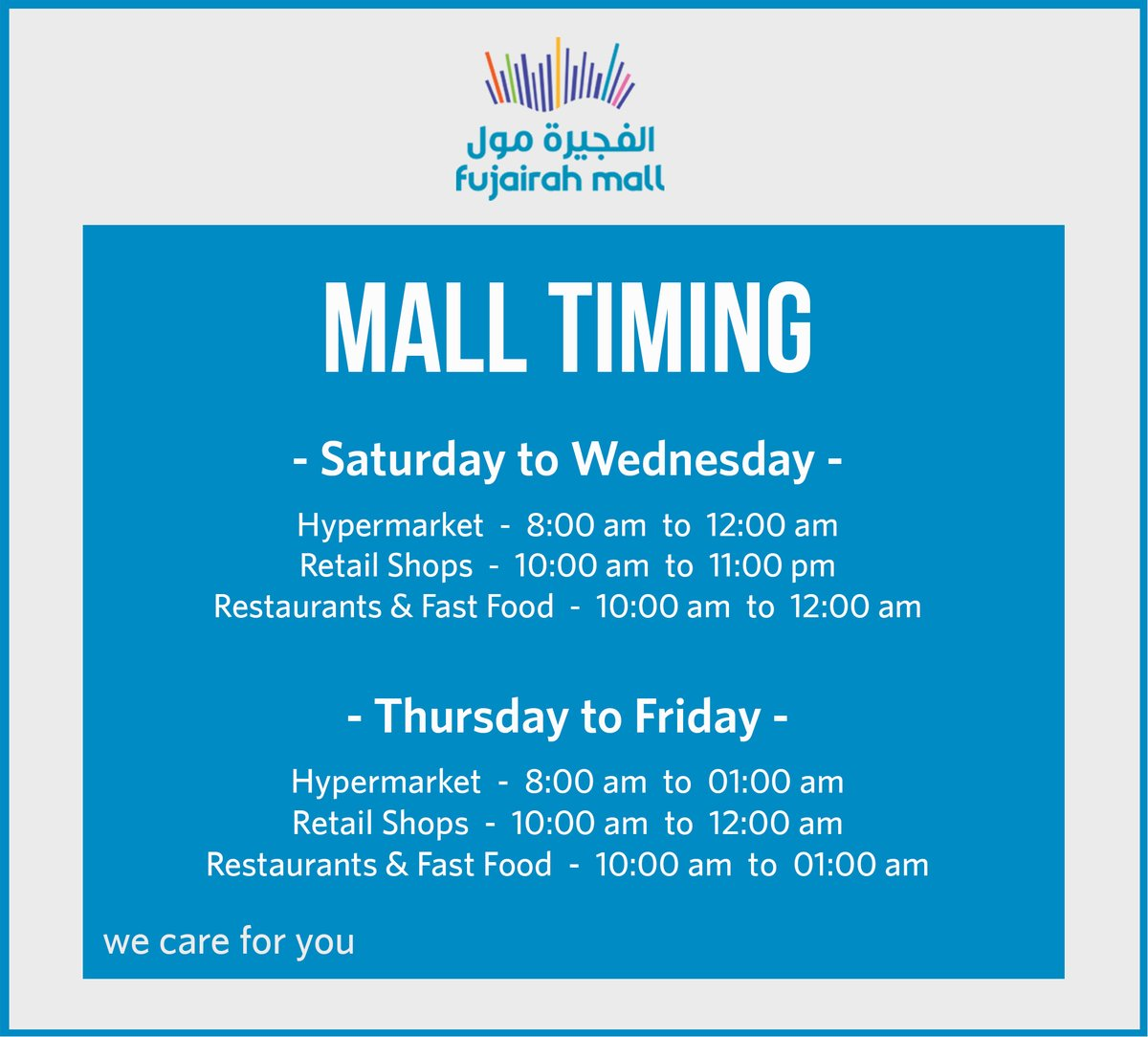 New Mall Timing https://t.co/oQtEy3KPkQ