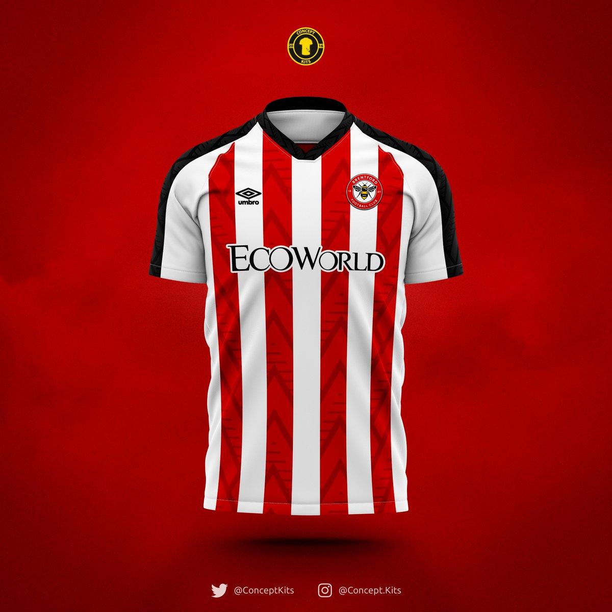 Brentford Football Club home, away and third kit concepts for the 2020/21 season.  #Brentford #BrentfordFC #BFC #Bees #BeesFC #Umbro #EFL #LionelRoad #TheBees #EFL #KitConcept #KitDesign https://t.co/c9RmVHYTsB