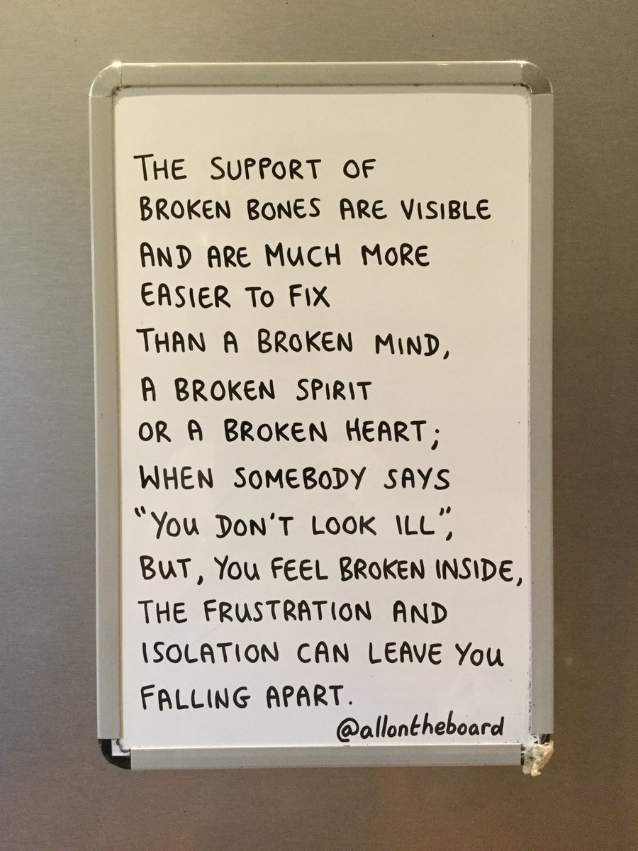 If we all support each other, we can help to fix one another. @allontheboard