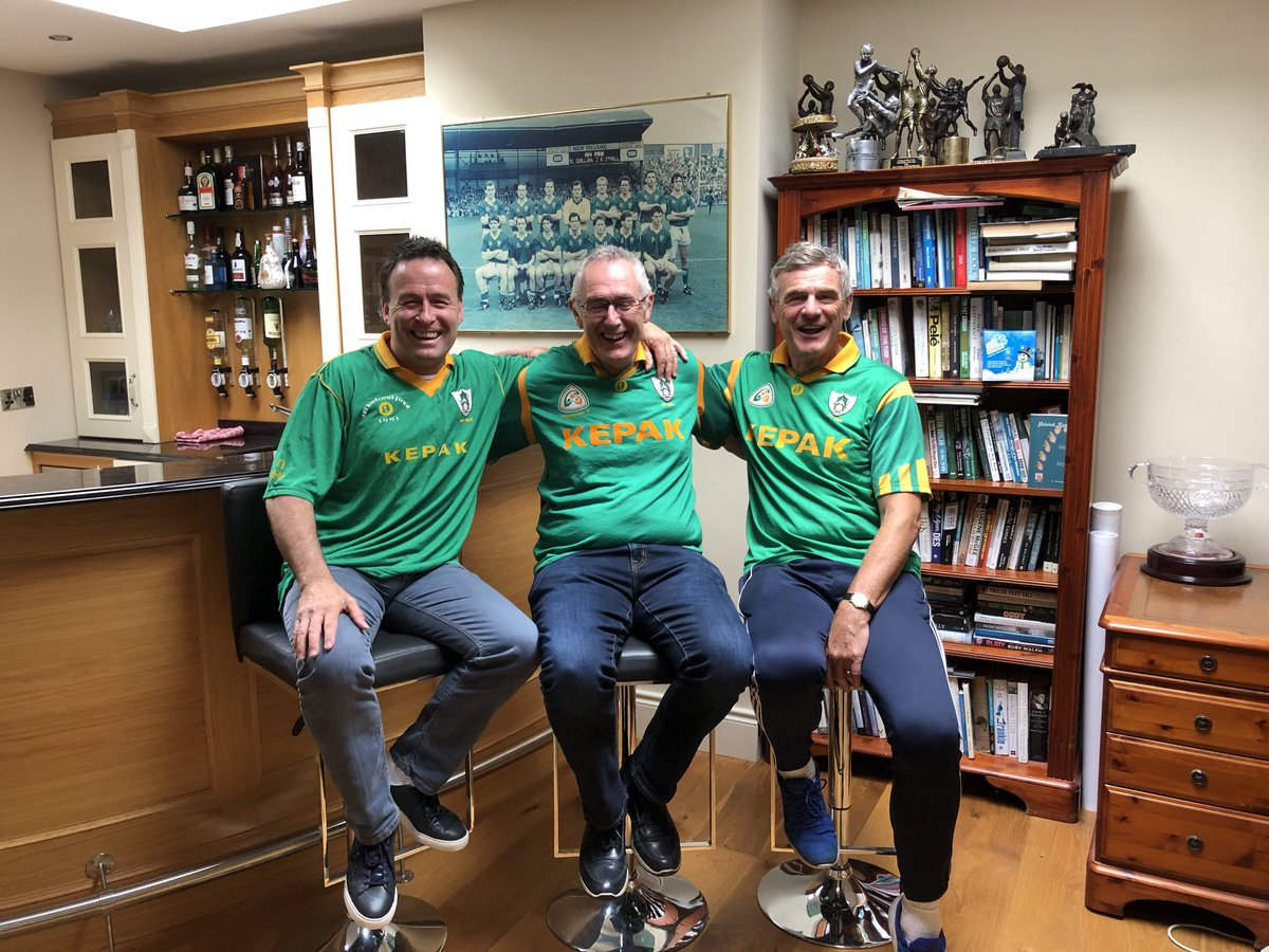Fabulous to catch up with my 2 great old team mates today Brian Stafford & Colm O Rourkes we will be Auctioning our last 3 Meath jerseys for a magnificent cause @teamlivie Please please help little Livie 💚💛💚💛