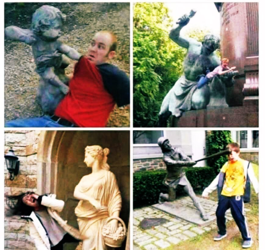 BREAKING: Statues around the world are fighting back!