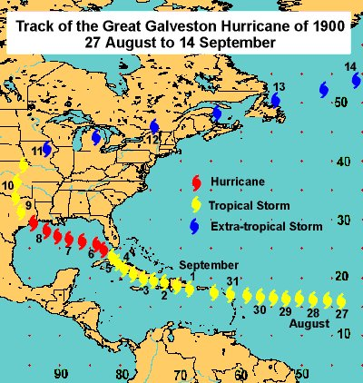 #SundayReading: The 1900 Great Galveston Hurricane proved deadlier than any disaster in U.S. history, with a death toll greater than the combined casualty figure for Pearl Harbor attack, Hurricane Katrina, the 9/11 terrorist attacks, and Hurricane Ike. ow.ly/vI2f50Aj7tV