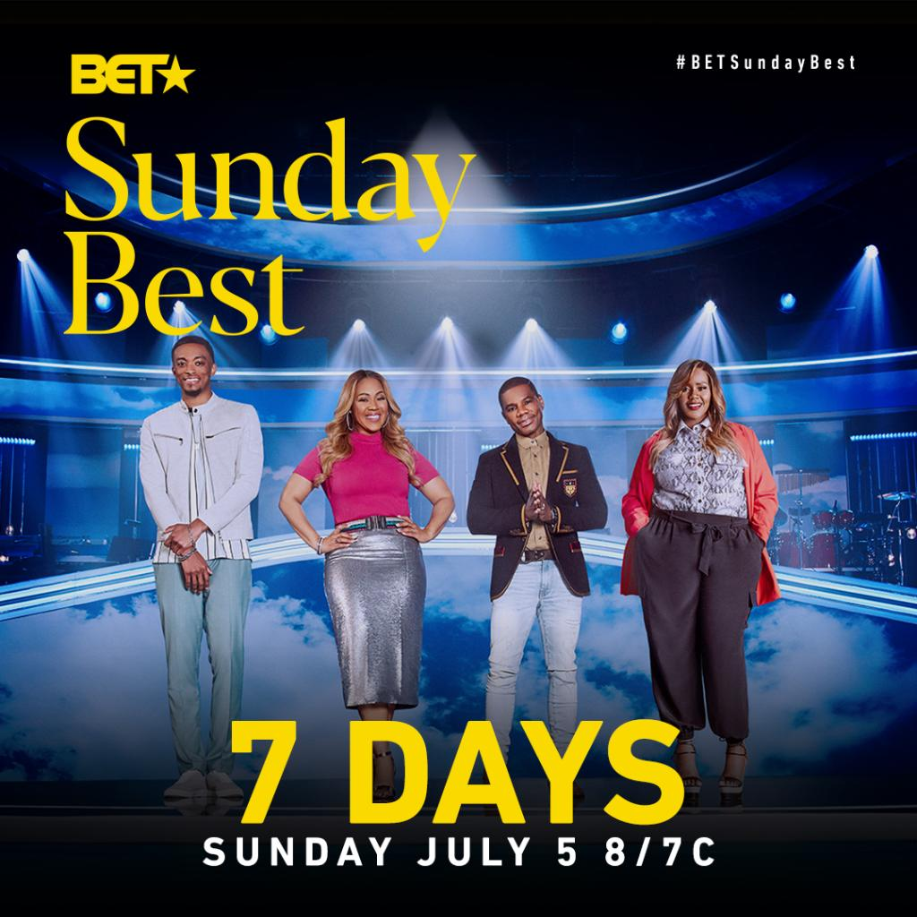 We're 7 DAYS away from the Season 10 premiere of @BETSundayBest!  Reply with a 💜 if you're ready for #BETSundayBest to return! https://t.co/JpbAU0qvmb