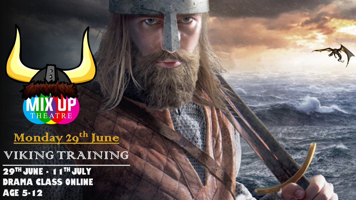 Mix Up Theatre On Twitter Mix Up Theatre Summer Online Age 5 12 Starts Monday 29th June 2 Weeks Of Drama Classes Activities Viking Fashion Costume Dragons Fun Howtotrainyourdragon Kids