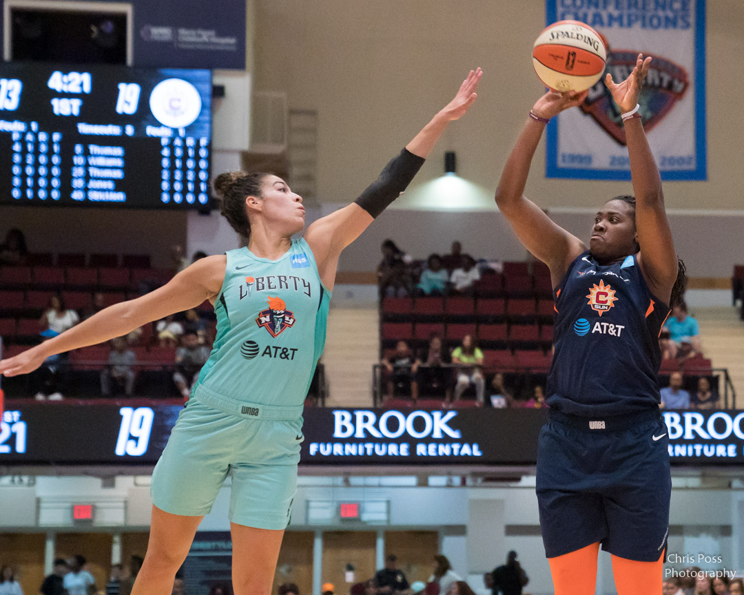 In today's #WNBARewatch game the @ConnecticutSun take on the @nyliberty from Aug. 30, 2019. Tune-in at 4 PM ET on @NESN https://t.co/unkCmKck9L