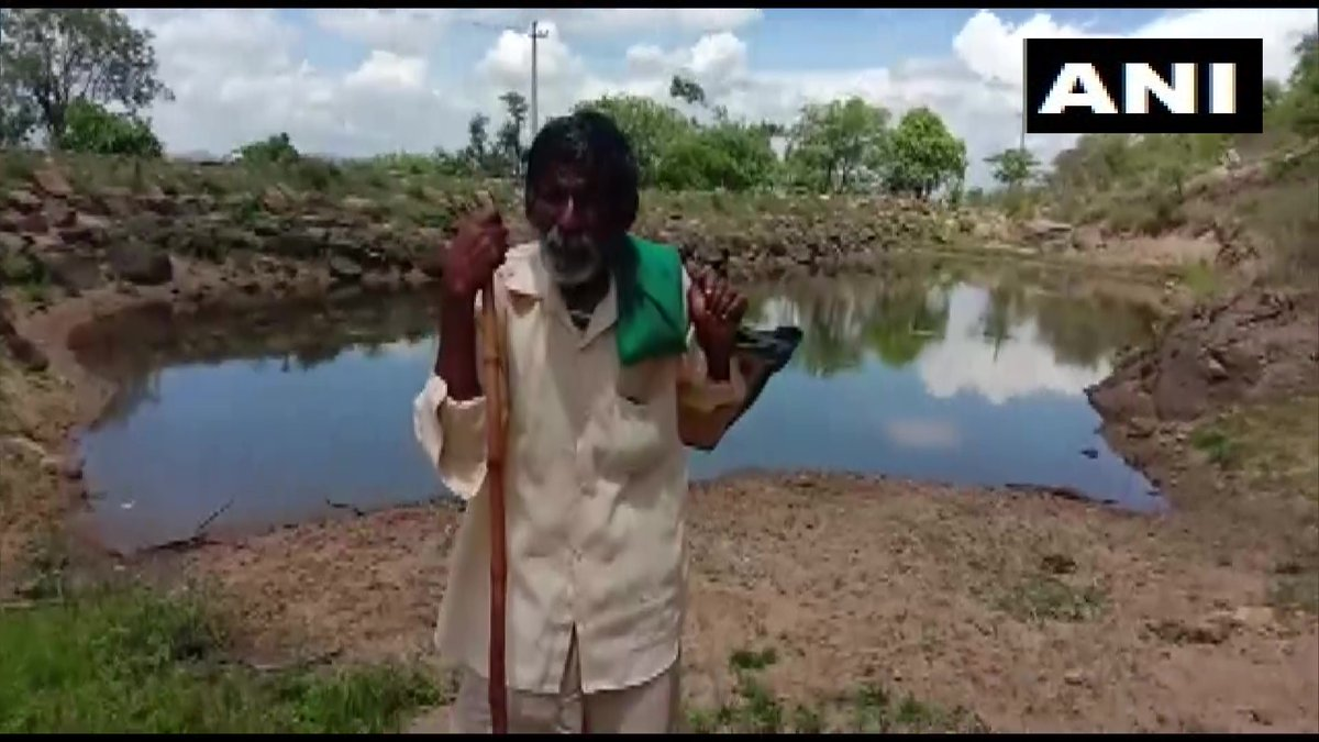 Karnataka: Kame Gowda, octogenarian shepherd from Mandyas Dasanadoddi,was applauded by PM in #MannKiBaat yday. Gowda has dug 16 ponds so far in his area to curb water crisis; says PMs using all his knowledge to save people from COVID&he remembered me. Greatest joy of my life