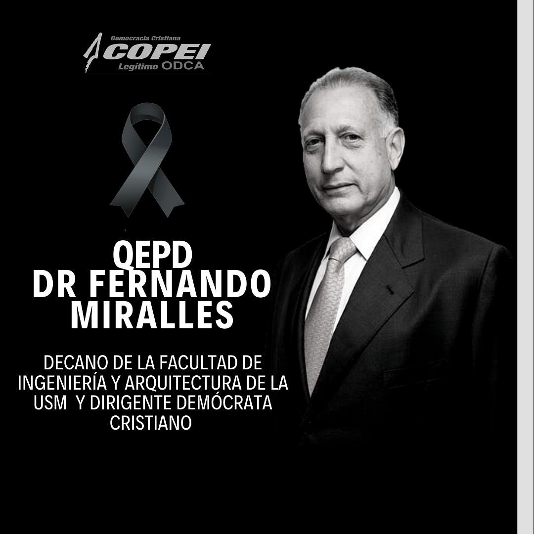 "Jairo Cuba's tweet - ""Falleció el doctor Fernando Miralles ..."