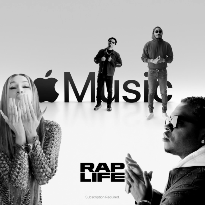 At the forefront of hip-hop culture. This is #RapLife. Listen now, only on @AppleMusic. apple.co/RapLife
