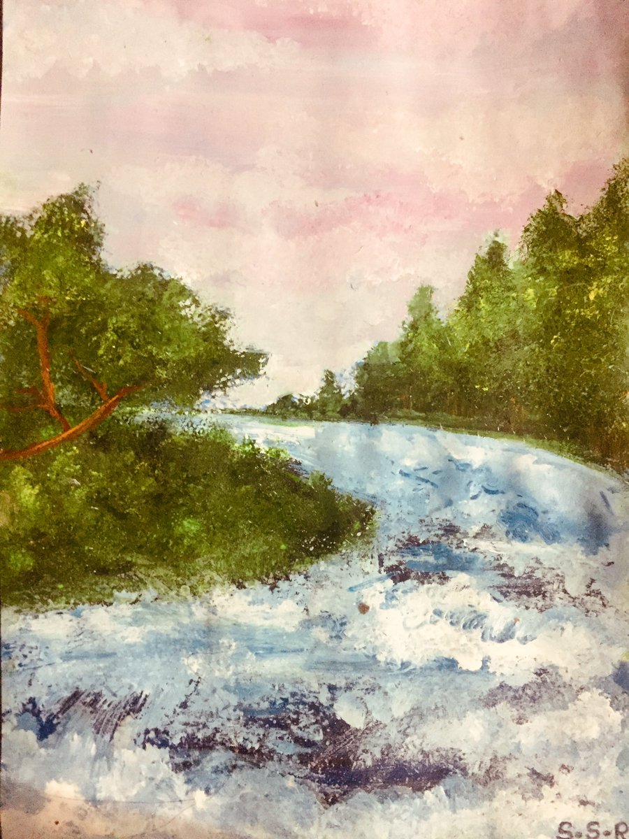 Quick painting of a fast flowing stream. Im trying to do better at water bodies .#art #artist #artistoninstagram #instaart #painting #watercolourpainting #watercolourart #streampainting #roughpaintingpic.twitter.com/TdL1QonDId