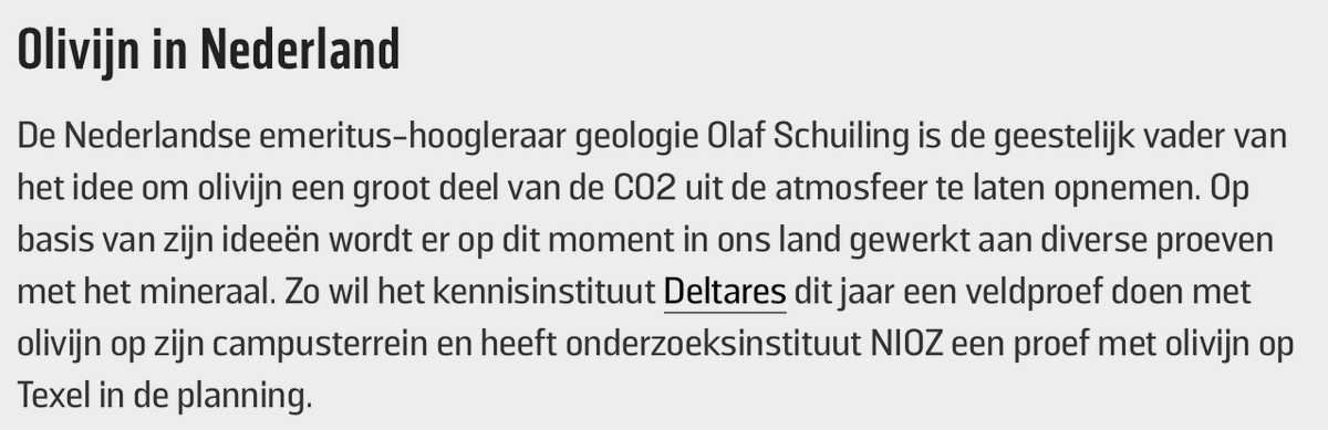Groene zandstranden kunnen alle CO2 opnemen. @Project_Vesta in Dutch ; Met (terechte) aandacht voor Prof. Olaf Schuiling, en het werk van @deltares in Delft. Laten we dit ook in Nederland gaan doen. wibnet.nl/natuur/klimaat…