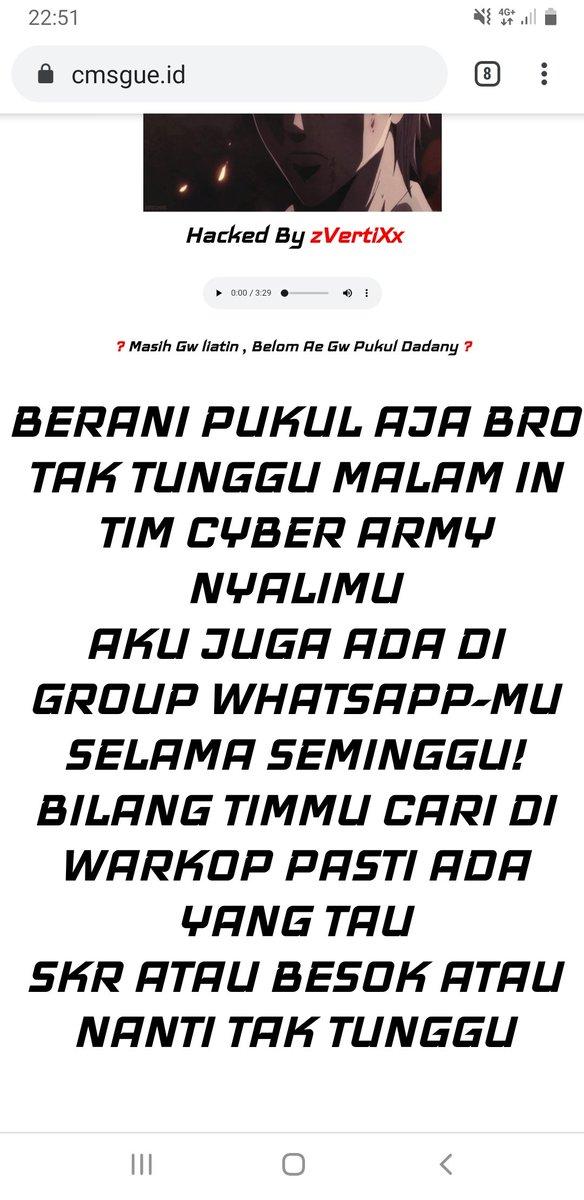Member cyber army tak tunggu ya attack lagi nyalimu di https://t.co/WKSDeRxvlf sampek sejauh mana bro.. aku tantang malem ini penetrationmu sama sqlmap  Devil_Star, Hilal, Nanda, Mr Shit   #cyberarmy #cybermuslim https://t.co/rVD6pQCjRO