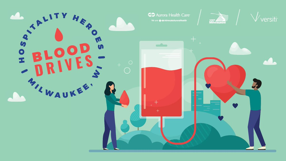 We're hosting the Hospitality Heroes Blood Drive on 7/1 & 7/2 w/ @Aurora_Health, @visitmilwaukee and @BloodCenterWI!    M️ake an appointment:   July 1: https://t.co/LJP58FtY8X  July 2: https://t.co/QtMGcksxhR   #HealthCareHeroes #VisitMKE #SaveLivesDonateBlood #GoodThingsBrewing https://t.co/SjyJXPDL3u