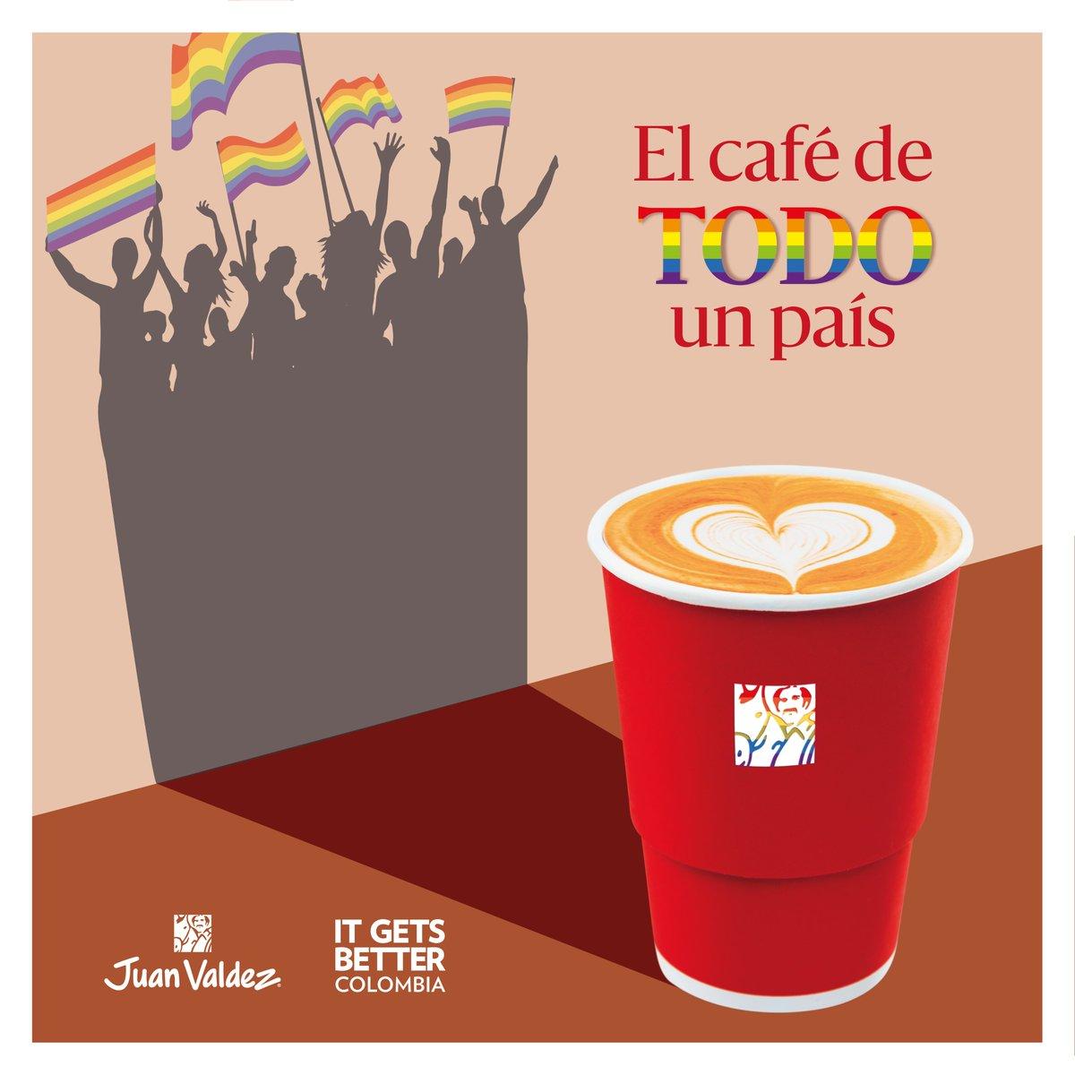 Hoy nos unimos a @ItGetsBetterCol; una fundación que inspira, conecta y apoya a personas LGBTI+, para tomarnos un café en honor a todas las personas que convirtieron el miedo en un motivo para continuar una lucha que no para. 👏🏻🌈☕ https://t.co/2rXAEY0Qvk