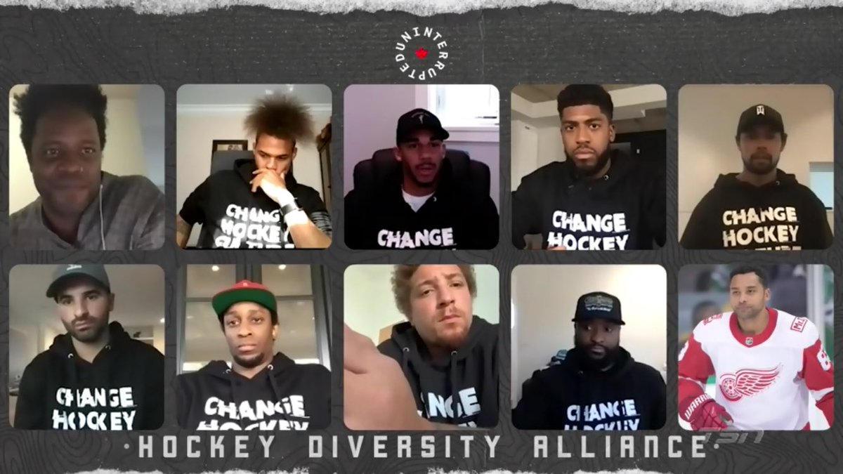 Tsn Hockey On Twitter Uninterrupted Canada Has Partnered With The Hockey Diversity Alliance To Produce An Exclusive Segment With All Members Of The Hda For The First Time Ever In This Digital