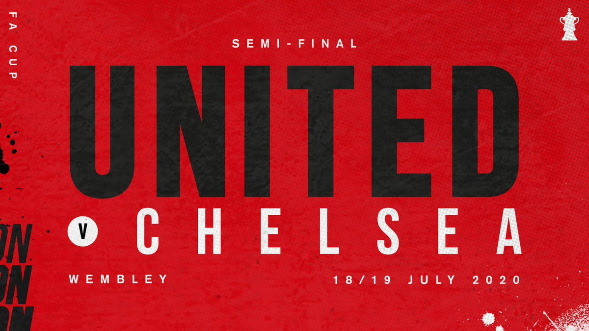 🏆 Oles Reds will face Chelsea in the #FACup semi-finals... Bring it on! 👊 #MUFC