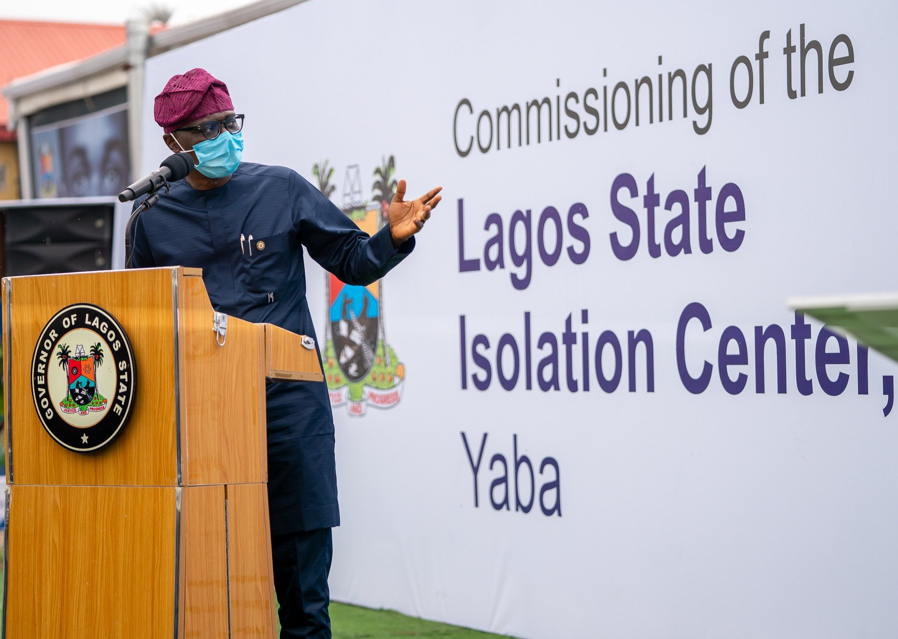 "Babajide Sanwo-Olu on Twitter: ""Today, we unveiled a 150-bed isolation  centre at the Mainland Infectious Disease Hospital, Yaba which increases  our capacity to tackle the spread of #COVID19. We thank the Private"