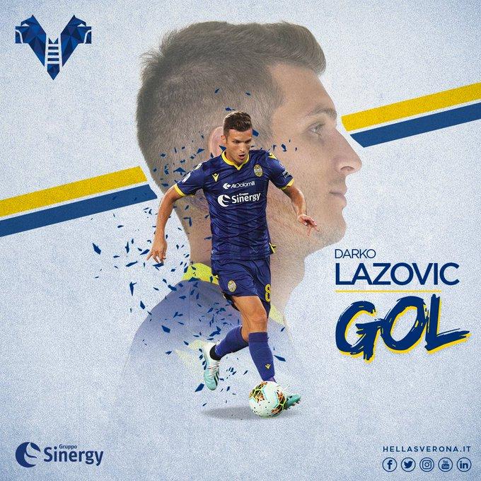 Lazovic porta avanti gli ospiti! Sassuolo-Verona 0-1.