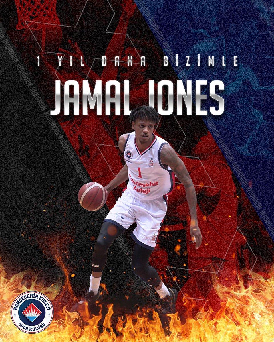 Bu sezon da ING Basketbol Süper Ligi ve EuroCup'ta Jamal Jones ile yola devam 👊🏻🔥🐉 #BizBahçeşehiriz #RedDragons #GoFire https://t.co/m8FeWfkPye