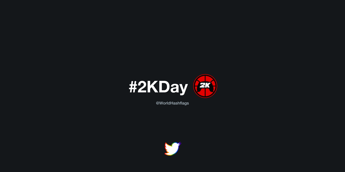 🥳 A new hashflag has appeared: #2KDay  ⏱️ This hashflag is active and usable until 12/31/2020. https://t.co/3UHgpR924c