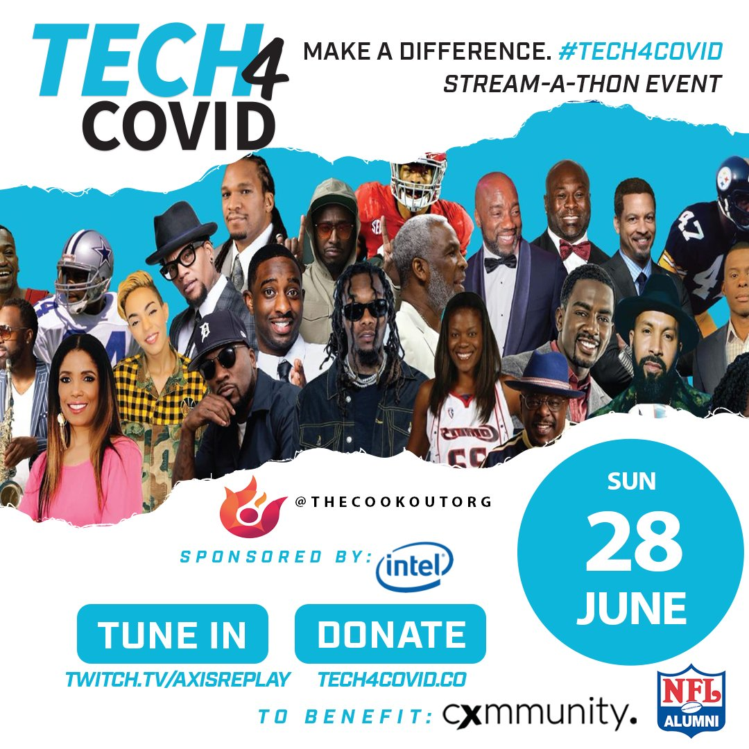 We're proud to partner with @cxmmunity's #Tech4Covid initiative, a fundraiser raising $ for underserved communities with essential digital resources during the COVID-19 crisis.    Tune in NOW to https://t.co/w7yAlajXQO for today's Stream-A-Thon & DONATE at https://t.co/YawqrDJe84 https://t.co/4rkDAqZdNG