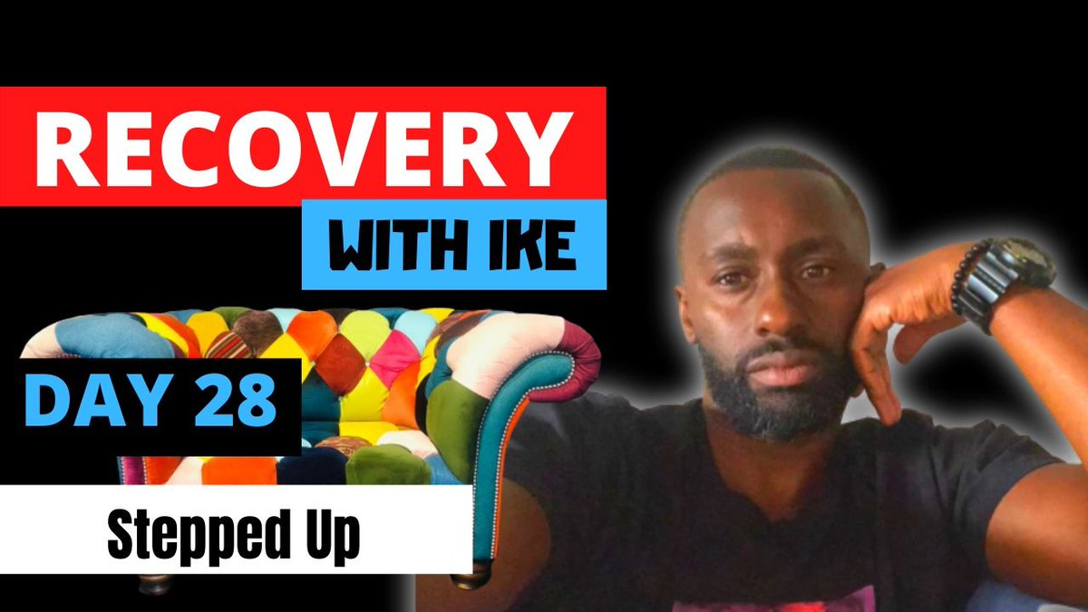 Day 28 - Stepped Up • #RecoveryWithIke.  #ChildOfGod #ChildOfGodTeam #ChildOfGodMovement #Recovery #Drugs #Alcohol #Gambling #ThankYou #Blessed #Grateful #GodBless #GodsWill #Addiction #MyStory #MyJourney #WhatNext #Support #ReachOut #GetHelp #GetInTouch  https://t.co/A1WDhfGOce https://t.co/goVSiAxqjf