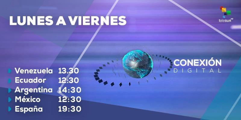 Acompáñenos en la Conexión Digital @ ConexiontlSUR.  Noticias al momento desde los diversos escenarios de interés de la vida política, económica y social de toda América Latina, integrando así al mundo en una sola voz informativa # teleSUR pic.twitter.com/YYR3rCqO8M