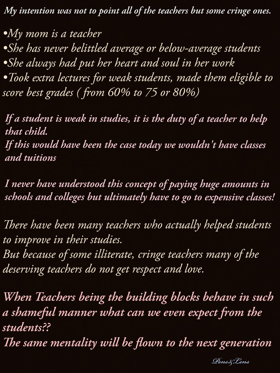 """""""FAVOURITISM IN SCHOOLS AND COLLEGES""""- Part 3 #writeup #educationalinstitute #schoollife #collegelife #teachers #students #studentslife #teacherstudentbond #partialtreatment #biased #favouritism #neednewmindset #changeyourmentality #goodchangeforthesociety #breakthecyclepic.twitter.com/dzcOtQjtfX"""