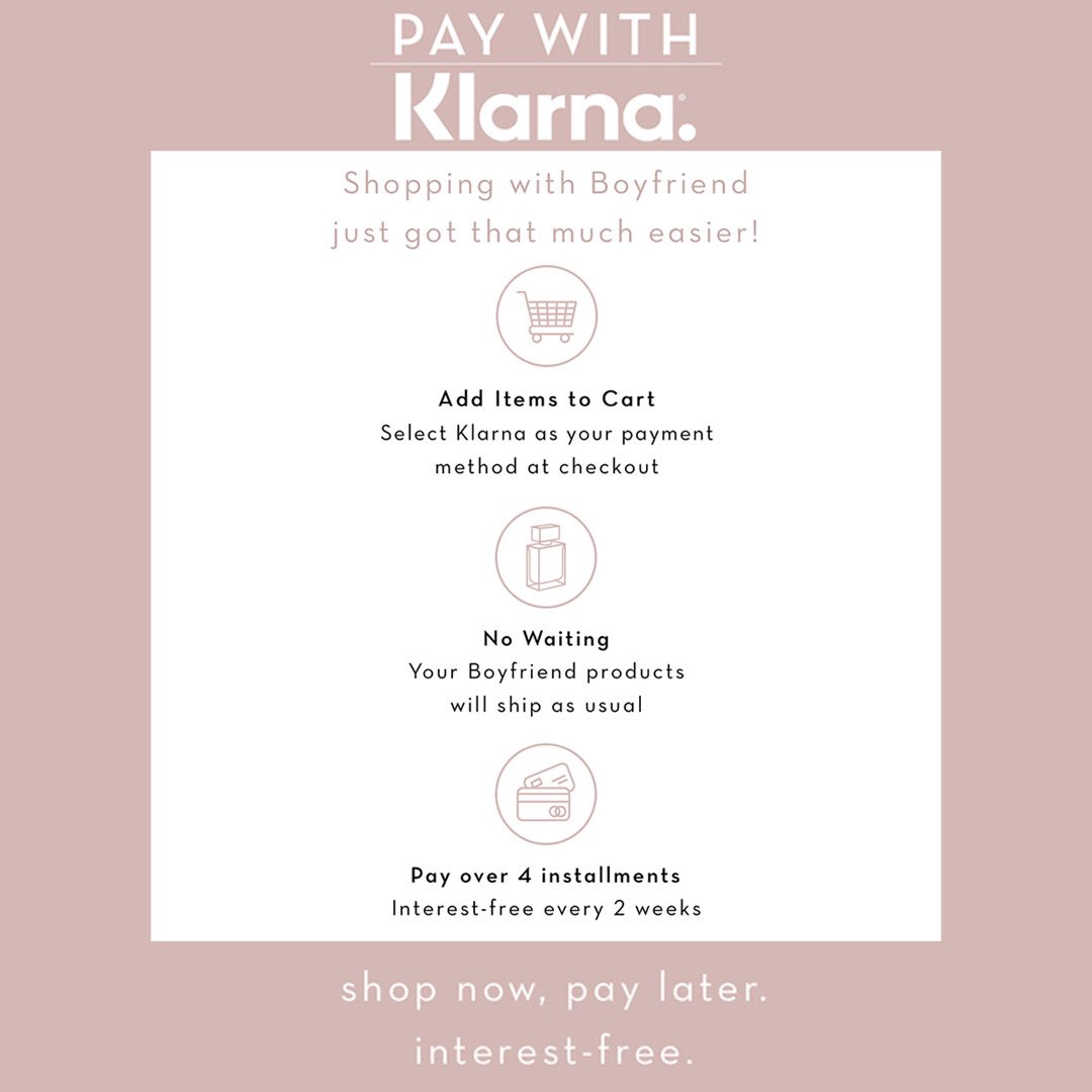 You're also now able to shop now and pay later, interest-free with @Klarna💗 https://t.co/2Rj6W5rtog
