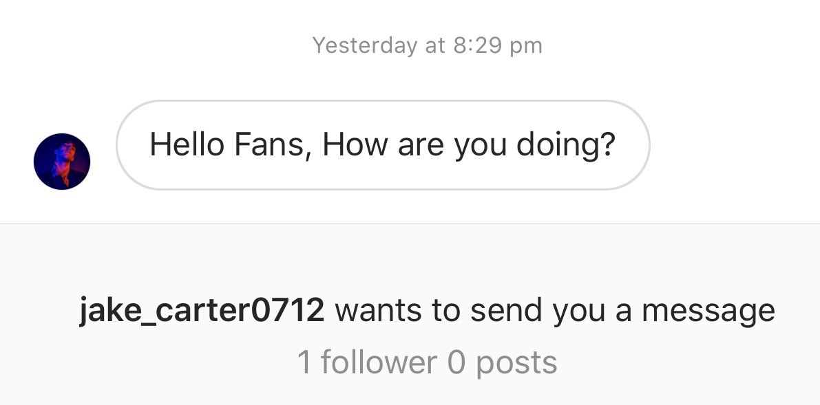 As if @jakecartermusic ! 😂🤣  Somebody wants to be you so have now reported and blocked!! 💁♀️ https://t.co/XXQerHM33K