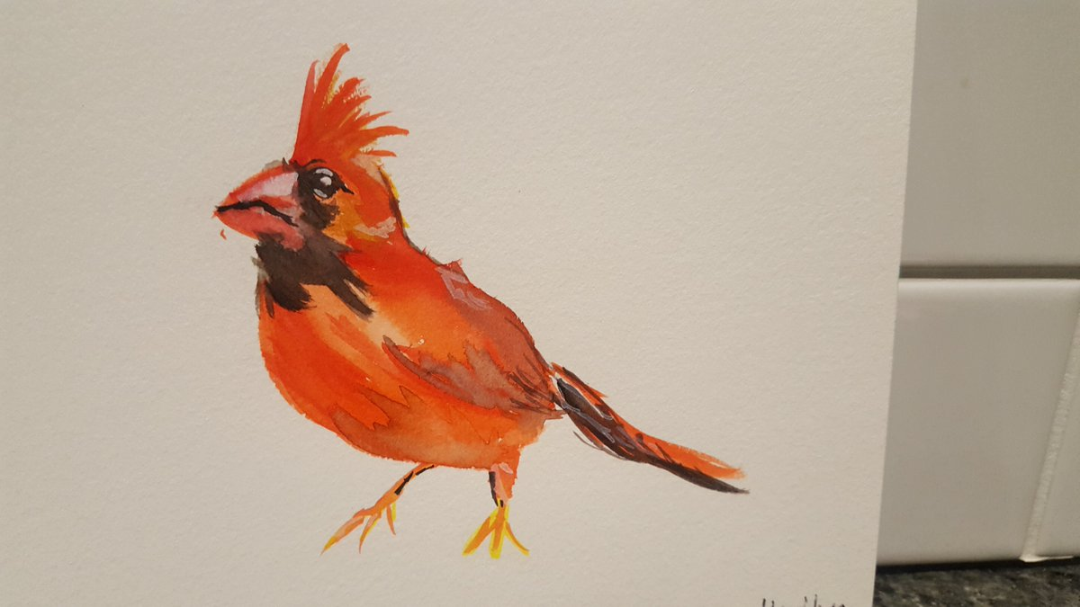 Have officially hit 'paint watercolours of birds' stage of lockdown