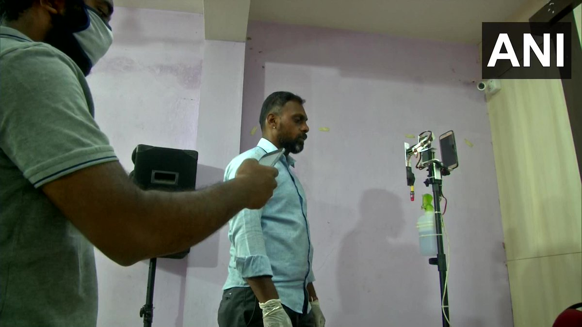 Tamil Nadu: Karthi Velayutham (pic 4), a Coimbatore based robotics engineer claims he has developed COVID-19 Smart Swab Robot' that can collect samples for #COVID19 test. Says, It can be operated through a smartphone with help of an app. Its a prototype, developed at Rs 2000.