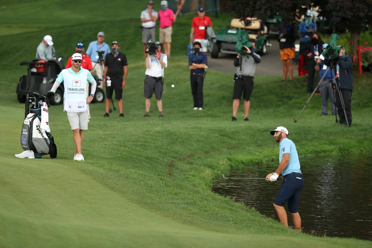 This was Dustin Johnson earlier this afternoon A few hours later he won the Travelers Championship