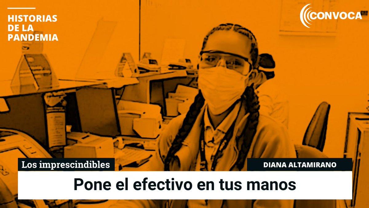 🔊#Historiasdelapandemia🎙 Ella es Diana Altamirano, trabaja en la ventanilla de un banco y está expuesta al contagio del COVID-19, pero sabe que su labor es prioritaria, sobre todo para las personas que cobran los #bonos del Estado. Escucha el #pódcast ▶ https://t.co/A3SZNUhfM9 https://t.co/QHUMvp8AJy