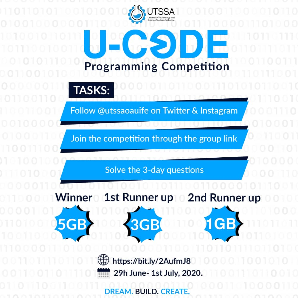 U-CODE started already. 1st problems statement released. You can still join the contest, just click