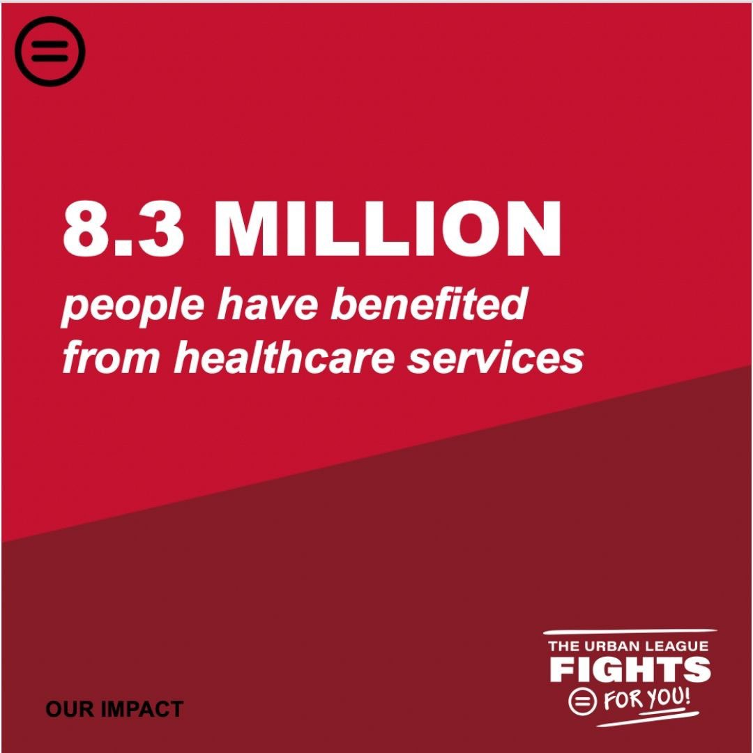 #Health is wealth and we are proud to have connected over 8.3 million people to critical + quality #healthcare services.  Visit https://t.co/mzGTdXdRVL to learn about our 5 focus areas for the work that we do in communities across the country. #NatUrbanLeague https://t.co/UAFVUpzxXo