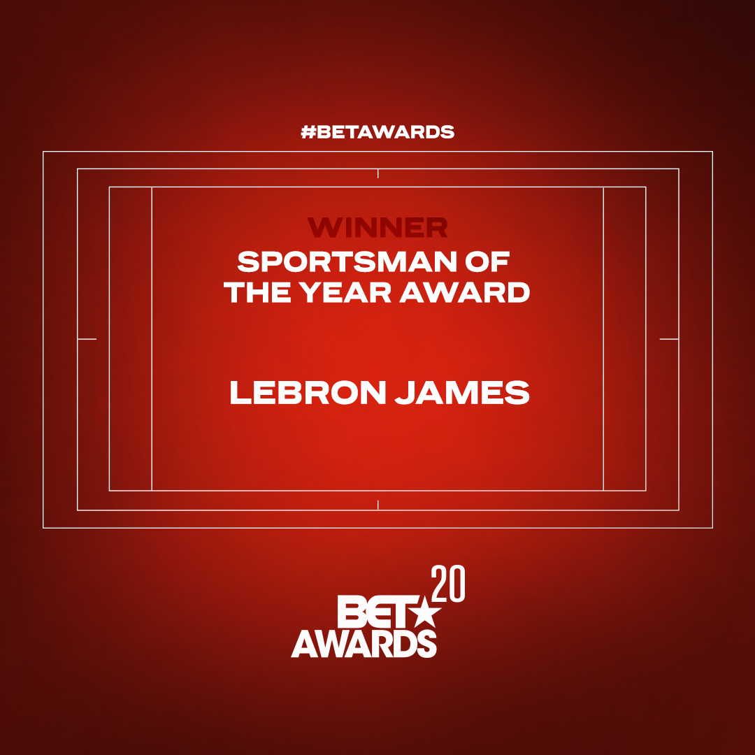 Congrats to @kingjames for taking home the Sportsman of the Year Award presented by @Wheaties #BETAwards https://t.co/STVTHryc8z