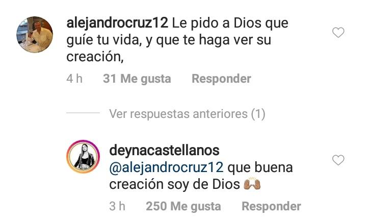 Críticas a Deyna Castellanos en las redes.